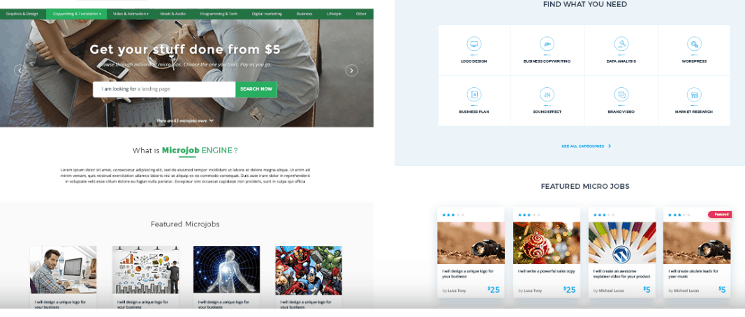 wordpress theme like fiverr