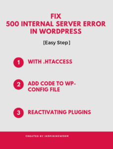 500 internal server errror in wordpress infographics