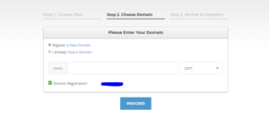 choose the domain siteground