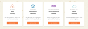 choose the hosting types siteground