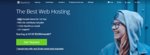 get started bluehost