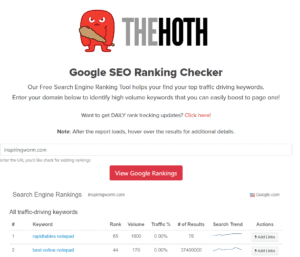 thehoth seo rankings