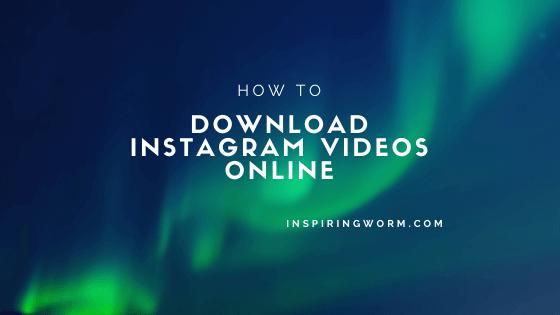 Download Instagram Videos Online
