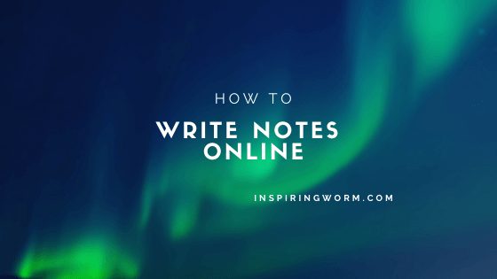 write notes online