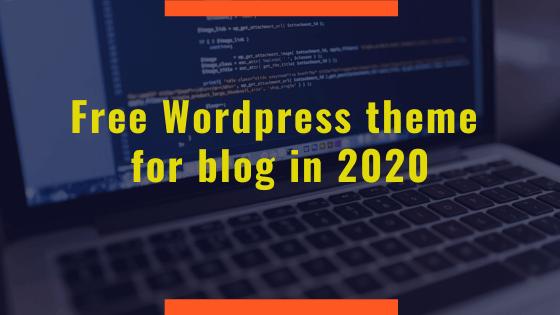 Free Wordpress theme for blog